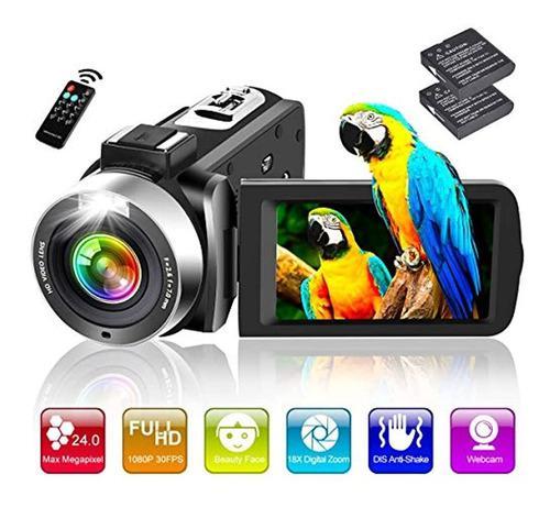 Videocámara Full Hd 1080p 30fps 24.0mp 18x Zoom Digital