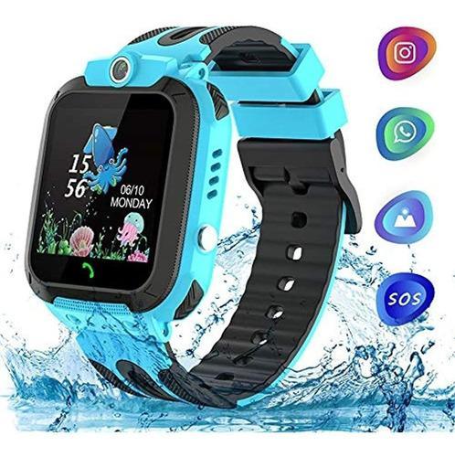 Reloj Niños Smartwatch Telefono Impermeable Gps Tracker Con