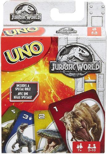 Juego De Mesa Cartas Uno Jurassic World Original
