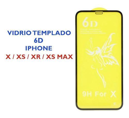 Mica Vidrio Templado 6d Para iPhone X Xs Xr Xs Max 11 Pro