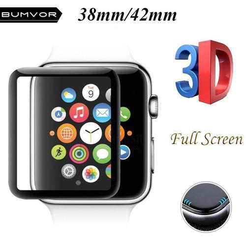 Mica Vidrio Templado Apple Watch 1 2 3 3d Full 42 Mm 42mm