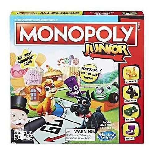Monopoly Juego De Mesa Junior, De 5 Años En Adelante