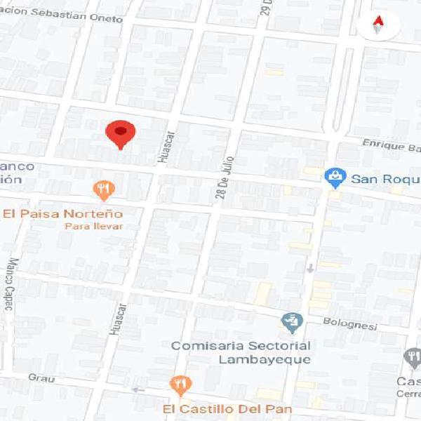 Venta de casa en Lambayeque - calle libertad cuadra