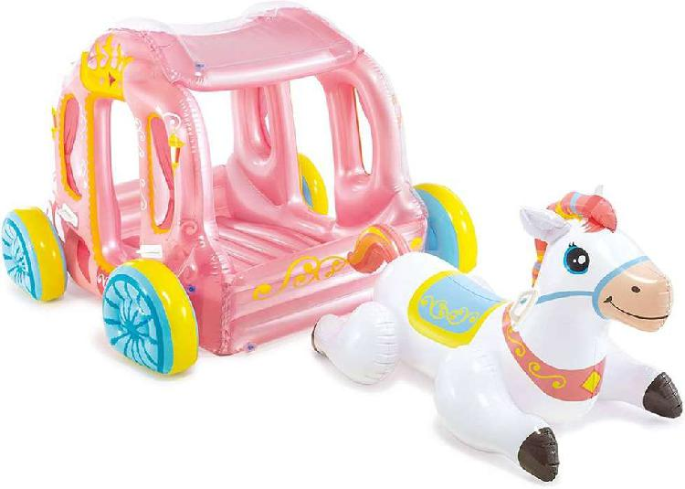 Inflable Infantil Carruaje de Princesa con Caballo Intex