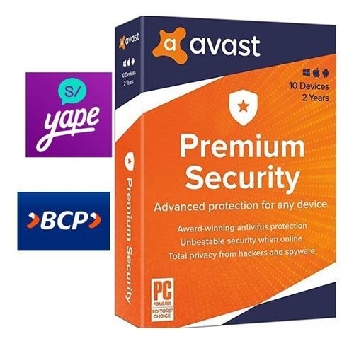 Antivirus Avast Premium Licencia - 10 Pc Por 2 Años