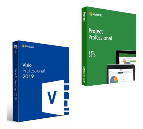 Ms Visio Y Project Pro 2019 - Pack 32/64 Bits