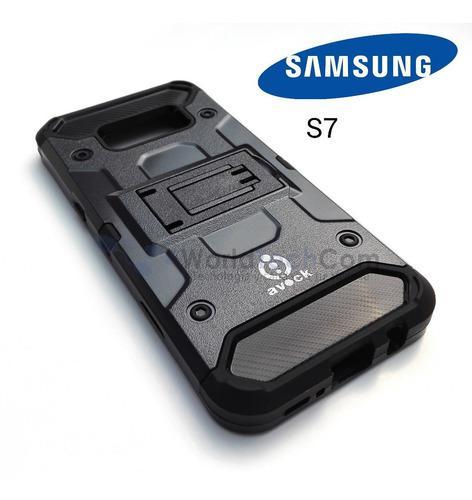 Case Armor Samsung Galaxy S7 Gancho Parante Protector Funda