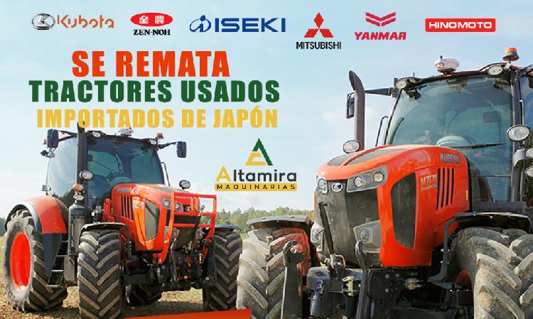 REMATE DE TRACTORES JAPONES USADOS