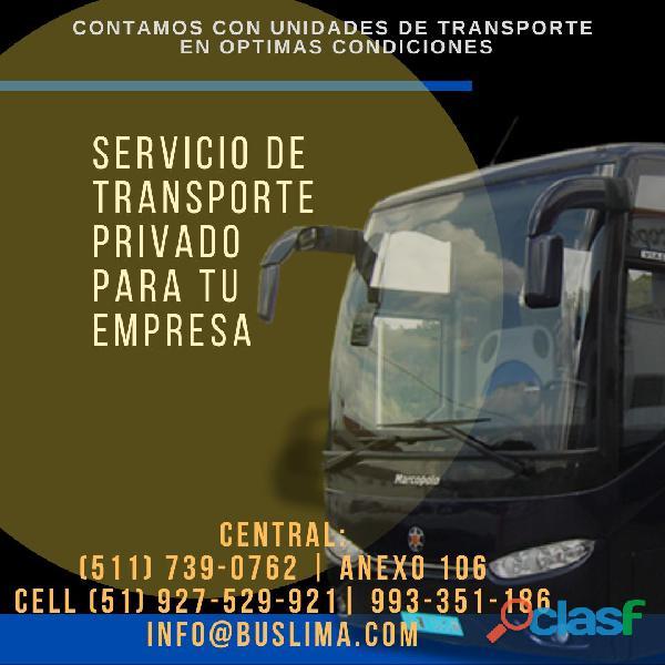 Servicio de transporte privado para tu empresa Lima