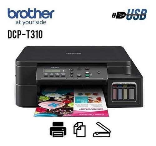 Impresora Brother Multifuncional Sistema Continuo Dcp-t310