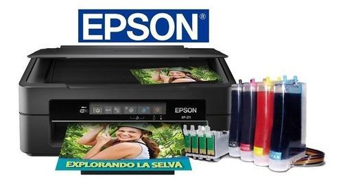 Impresora Epson Xp-211 Wifi Con Sistema De Tinta Continua