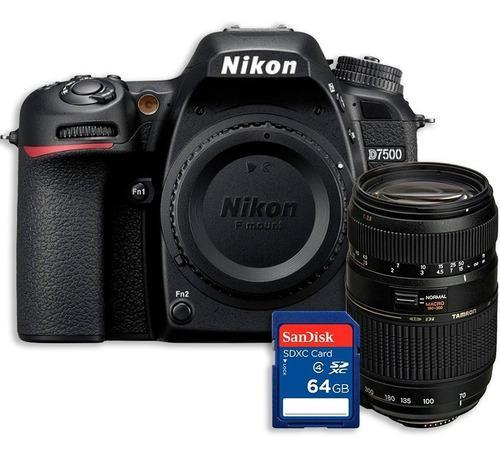 Kit Cámara Nikon D7500 Lente Tamron 70-300mm + Memoria 64gb