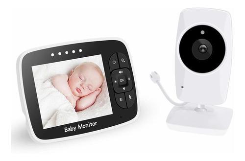 Monitor De Bebé Con Pantalla Hd De 3,5 Pulgadas Con Cámara