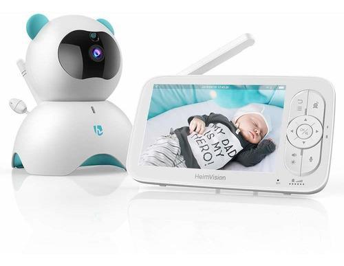 Monitor De Bebé De Vídeo, Pantalla Lcd De 5 Pulgadas, 720p