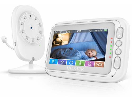 Monitor De Bebé Uokier 4,3 Monitor De Video Bebé Con