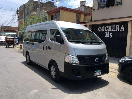 Transporte de personal en van, combi, coaster, bus en Lima