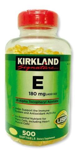 Vitamina E 400 Iu Kirkland 500 Sofgel De Eeuu