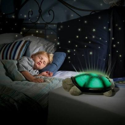 Lampara Musical Tortuga Peluche Musical Proyector Luces Led
