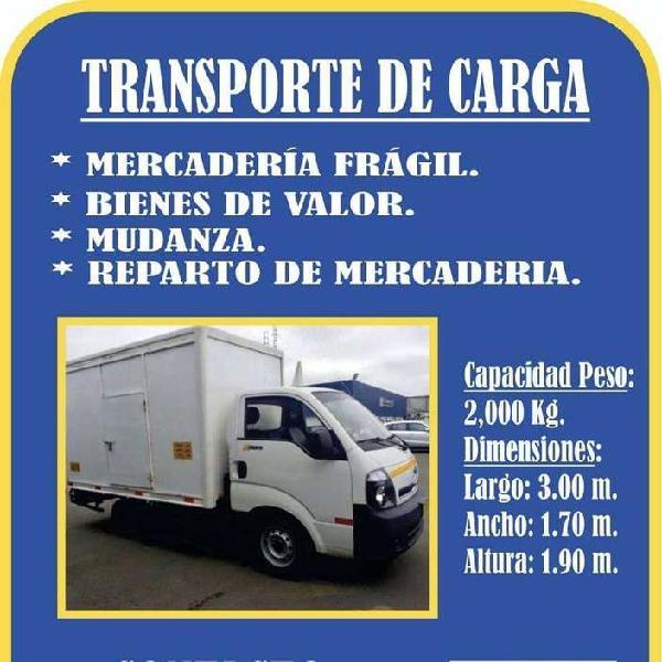 SERVICIO DE TRANSPORTE DE CARGA, MUDANZA, REPARTO Y