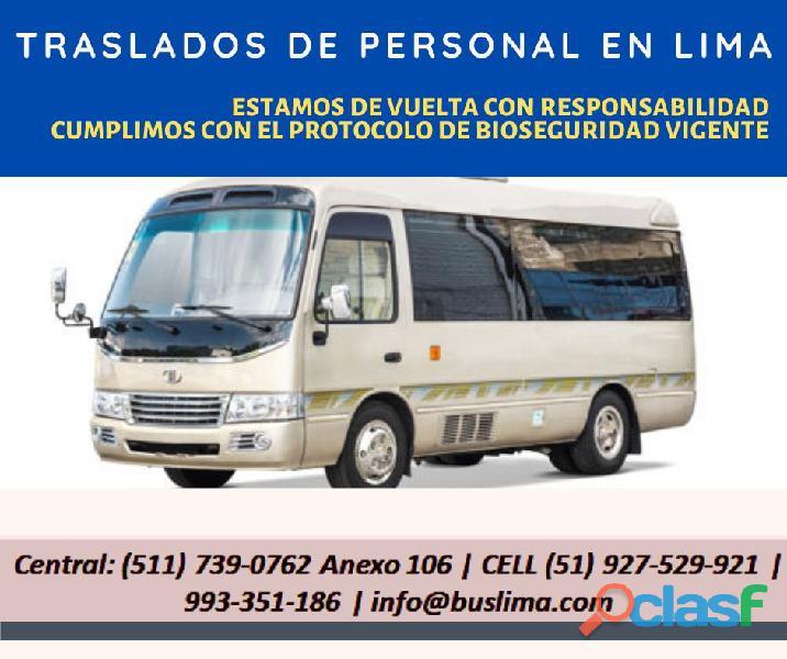 Servicio de traslados de personal en Lima