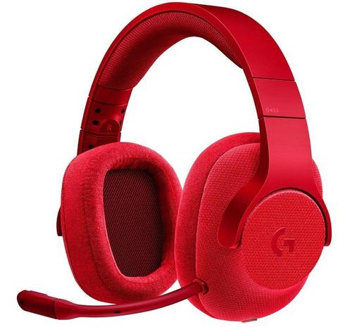 Audifono C/microf. Logitech G433 7.1 Gaming Red