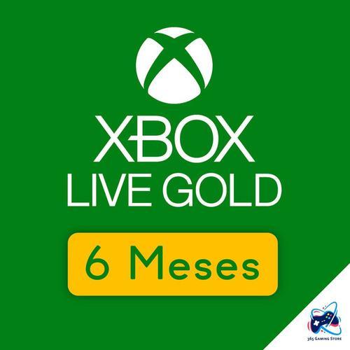 Membresía Xbox Live Gold 6 Meses Para Xbox One - Xbox 360