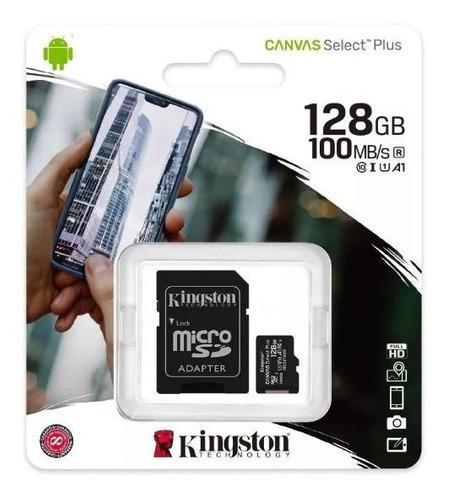 Micro Sd 128gb 100mb/s Kingston C10 Canvas Select Plus Origl
