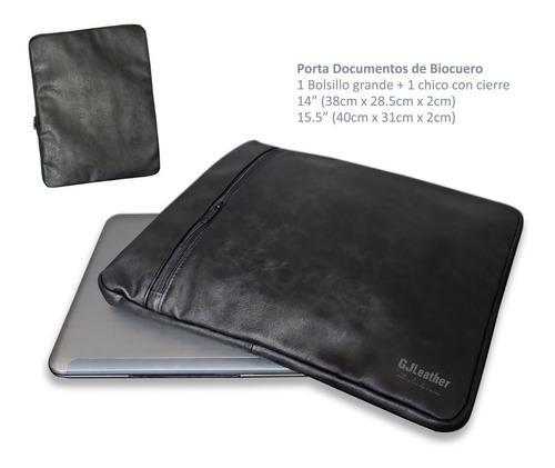 Porta Documentos De Biocuero 14 Portalaptop 2 Bolsillos