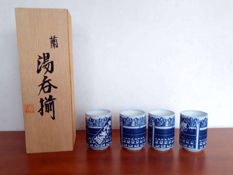 V/cambio Juego de vasos Japoneses de Porcelana Labrados en