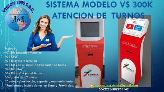 Sistemas de filas con software en Lima