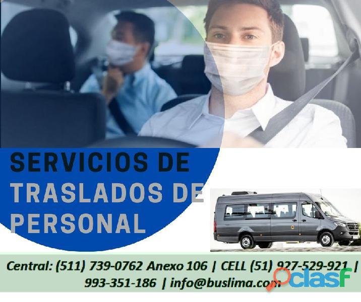 transporte para personal en la ciudad de Lima. Lima