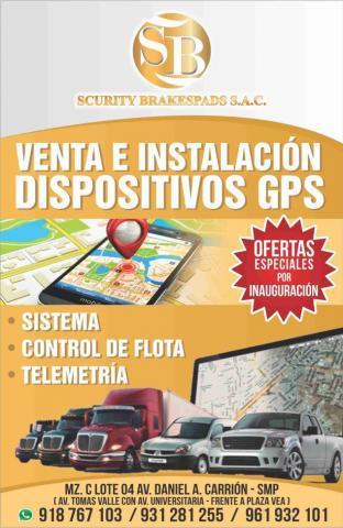 venta e instalacion de dispositivos gps en Lima