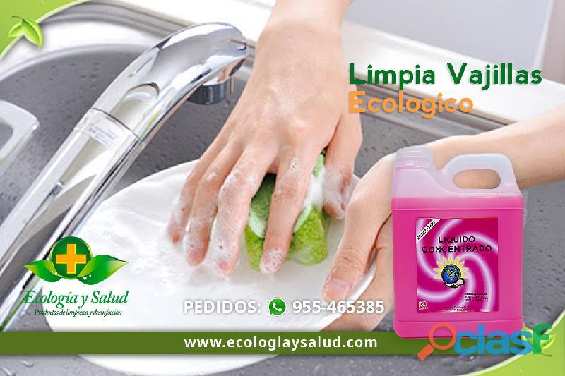 Limpiador ecologico de vajillas