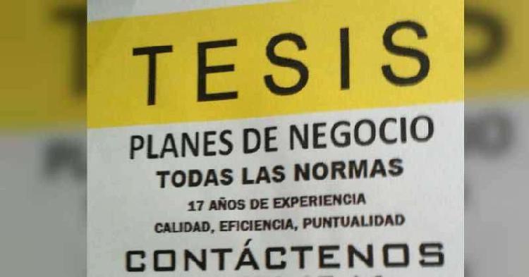 ASESORÍA Y ELABORACIÓN DE TESIS, PLANES DE NEGOCIOS,