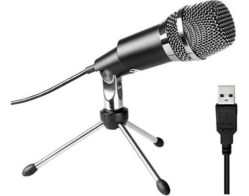 Fifine Micrófono Usb, Plug & Play Home Studiomicrófono