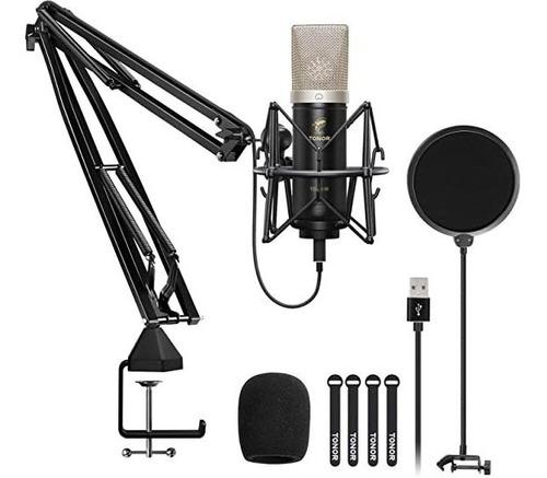 Tonor Tc-2030 Micrófono De Condensador Para Ordenador Con