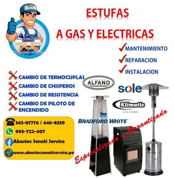 Servicio técnico de estufas sole klimatic alfano en Lima