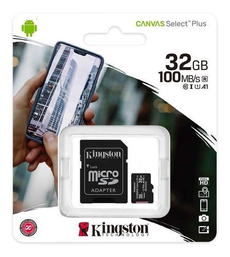 Memoria Micro Sd 32 Gb Kingston Clase 10 Canvas Select Plus