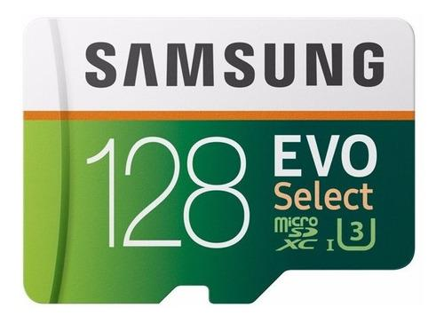 Samsung Micro Sd 128 Gb Evo Select Uhs-i U3 100 Mb/s 4k