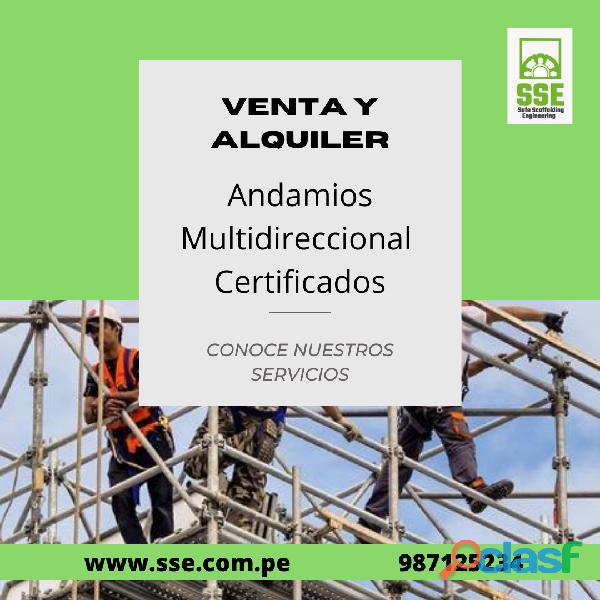 Andamios certificados Lima