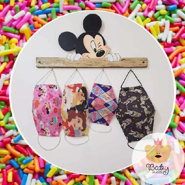 Perchero para mascarillas Mickey y Minnie Mouse