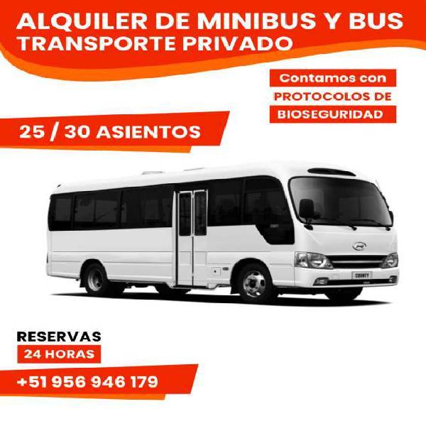 Alquiler de minibus y bus para transporte privado en Lima