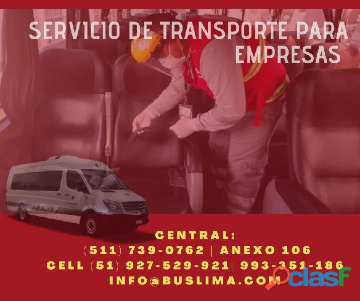 Servicios de Transporte de Personal, para empresas. Lima