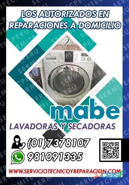 Rapidez y economía Técnicos de LAVADORAS MABE 017378107