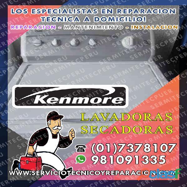 KENMORE Técnicos de LAVADORAS a domicilio 981091335 en