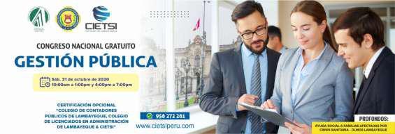 Congreso nacional gratuito en gestión pública 2020 en