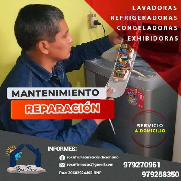 TECNICO REPARACION MANTENIMIENTO LAVADORAS Y REFRIGERADORAS