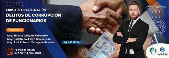 Curso de especialización en delitos de corrupción de