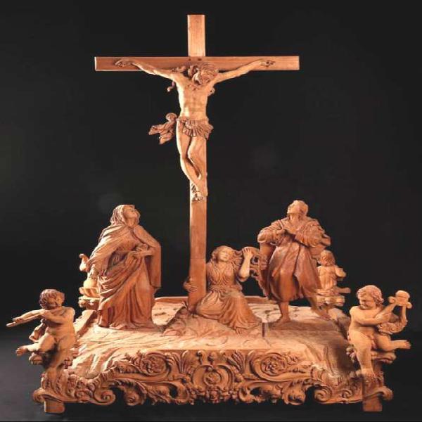 ESCULTURA DE JESUS, VIRGEN MARIA SAN JUAN, MAGDALENA