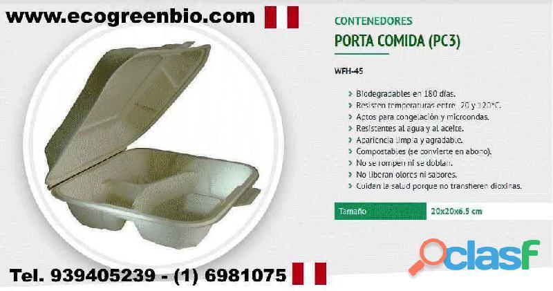 001 Ecológicos biodegradables para alimentos delivery Lima
